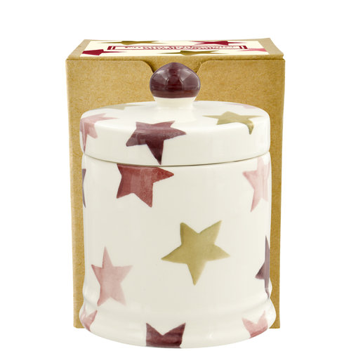 Emma Bridgewater Candle Pink & Gold Stars lidded