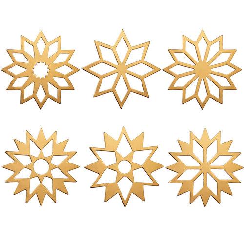 Räder Table stars Set gold matt