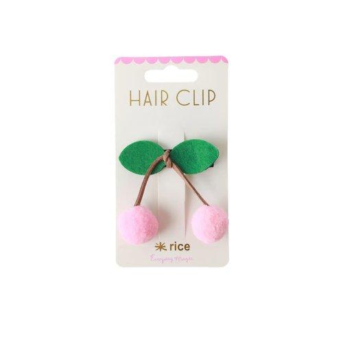 Rice Haarclip Kers licht roze