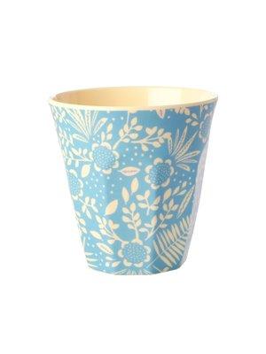 Rice Melamine beker Blue Fern & Flower