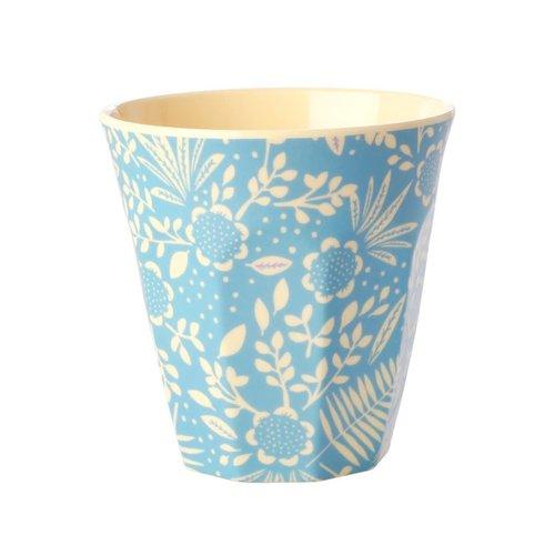 Rice Melamine beker Fern & Flower Blue