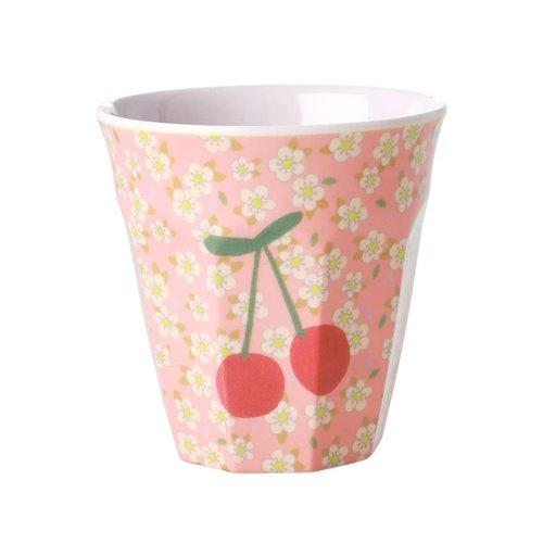 Rice Melamine beker Small Flowers Cherry &