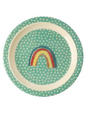 Rice Melamine Kids lunch bord Rainbow & Stars