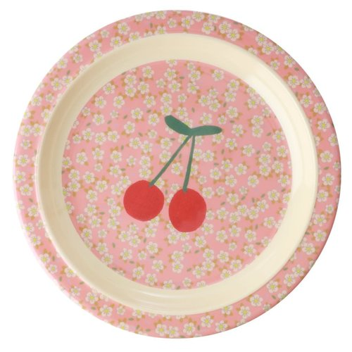 Rice Melamine Kids lunch bord Small Flowers & Cherry