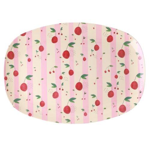 Rice Melamine ovaal bord Cherry