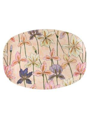 Rice Melamine ovaal bord Iris