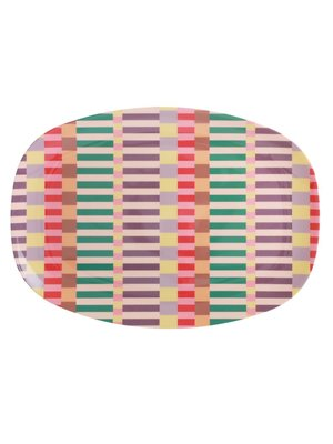 Rice Melamine ovaal bord Summer Stripes
