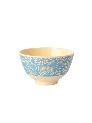 Rice Melamine kom small Fern & Flower blauw