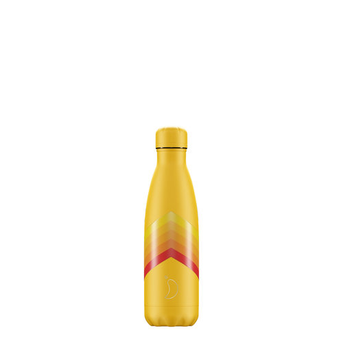 Chilly's Bottle Chilly's Bottle 500ml Yellow Zigzag