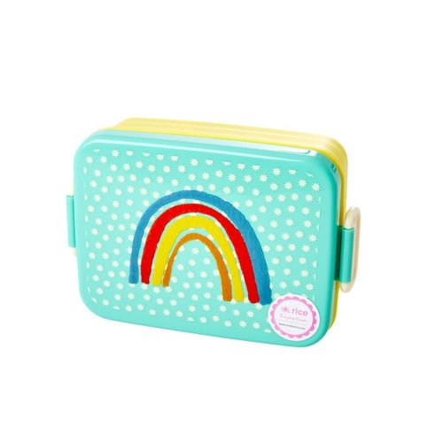 Rice Lunchbox met divider - Rainbow & Stars