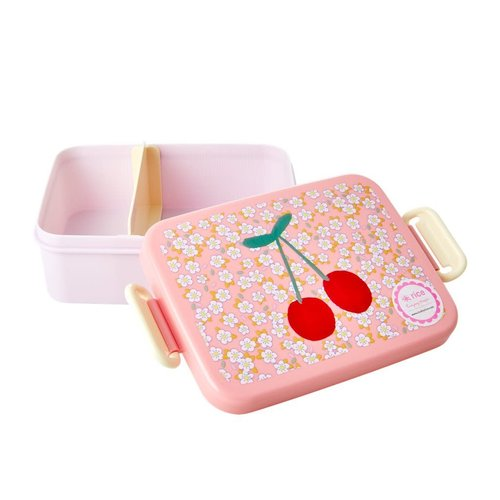 Rice Lunchbox met divider Small Flowers & Cherry