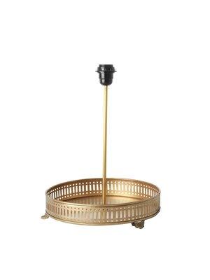 Rice Metalen Tafellamp voet met dienblad goud