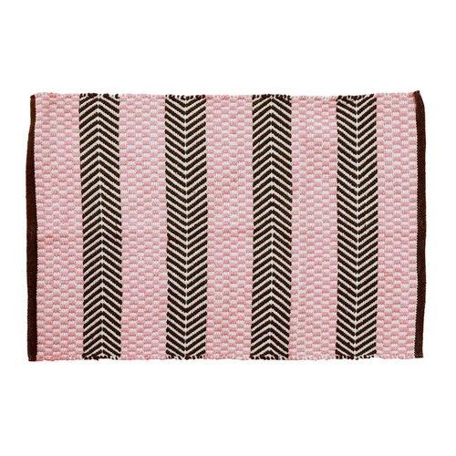Rice Recycled Plastic Vloermat Pink & Brown