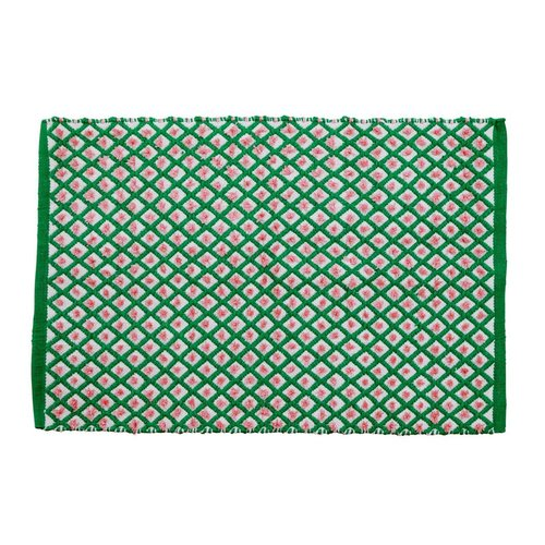 Rice Recycled Plastic Vloermat Green Harlequin