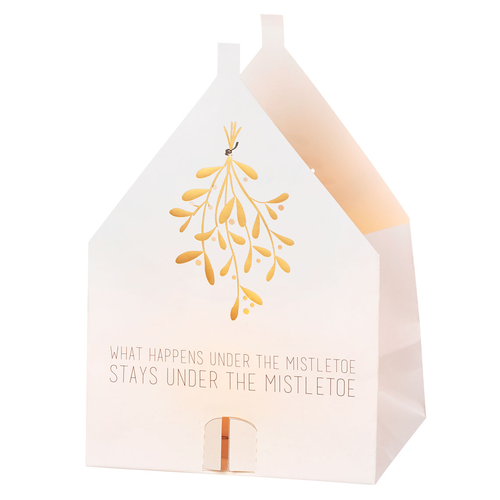 Räder Christmas lighthouse card Mistletoe