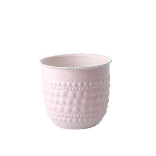 Rice Bloempot metaal medium soft pink