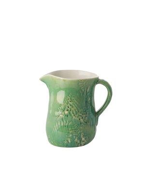 Rice Kan / vaas aardewerk Embossed Flowers groen 1,7ltr