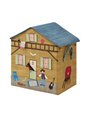 Rice Raffia House foldable L Ranch