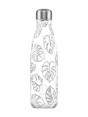 Chilly's Chilly's Bottle 500ml Line Drawing Leaves