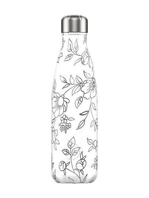 Chilly's Chilly's Bottle 500ml Line Drawing Flowers