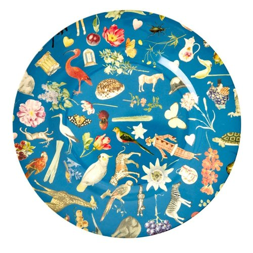 Rice Melamine diner bord Art Blue
