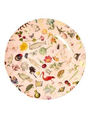 Rice Melamine diner bord Art Pink