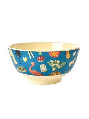 Rice Melamine kom Art Blue