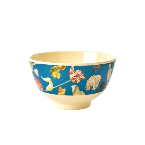 Rice Melamine kom small Art Blue
