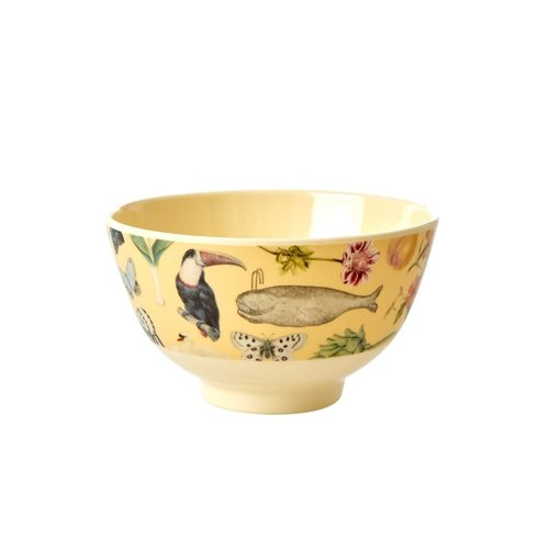 Rice Melamine kom small Art Creme