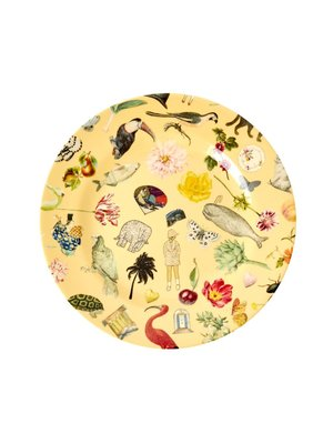 Rice Melamine lunch bord Art Creme