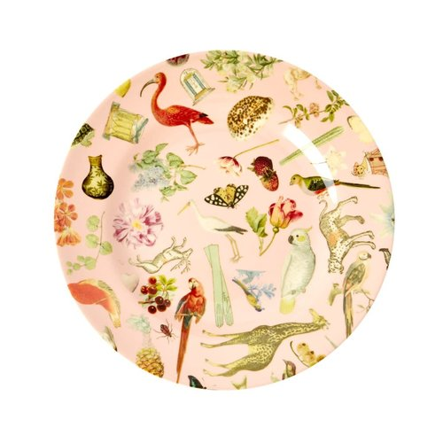 Rice Melamine lunch bord Art Pink
