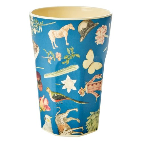 Rice Melamine Tall beker Art Blue