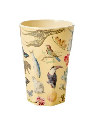 Rice Melamine Tall beker Art Creme