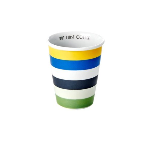 Rice Mok 225ml Blue & Green Stripes