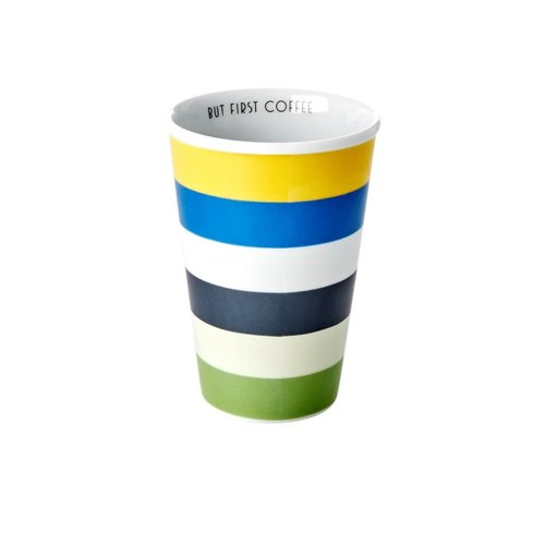 Rice Mok 300ml Blue and Green Stripes