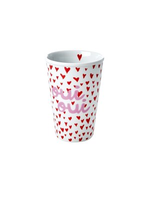 Rice Mok 300ml Small Hearts and Oui print