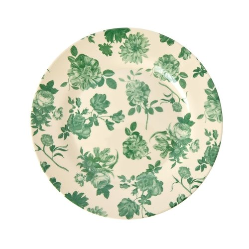 Rice Melamine lunch bord Green Rose