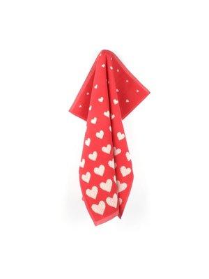 Bunzlau Castle Keuken handdoek Hearts Red