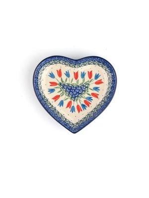 Bunzlau Castle Schaal Heart medium Tulip Royal
