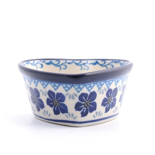 Bunzlau Castle Ovenschaal Hart 160 ml Blue Violets