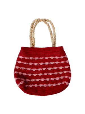 CurrybySelma Vibeke tas / bag Red with Pink