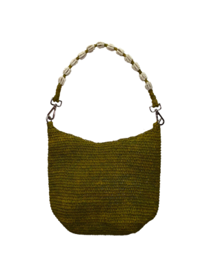 CurrybySelma Else tas / bag Apple Green beaded handle