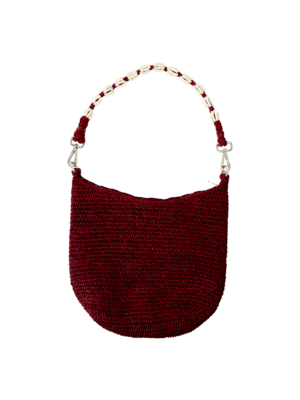 CurrybySelma Else tas / bag Bordeaux beaded handle