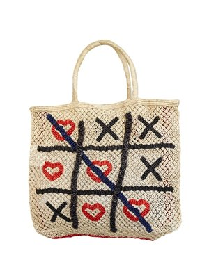 the Jacksons Shopper Jute L Hearts and Crosses