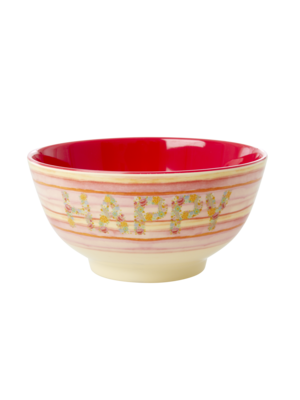 Rice Melamine kom Happy pink