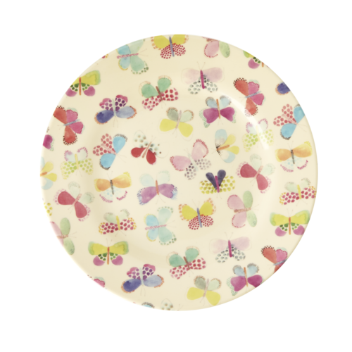 Rice Melamine lunch bord Butterfly