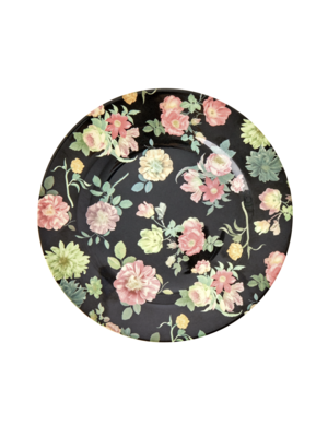 Rice Melamine lunch bord Dark Rose