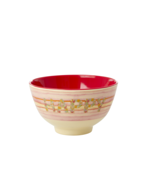 Rice Melamine kom small Happy Pink