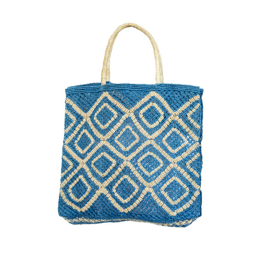 the Jacksons Shopper Jute L Ingrid ocean/natural