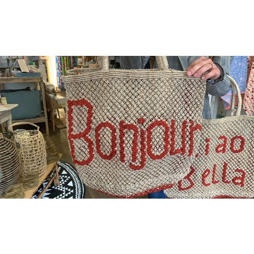 the Jacksons Shopper Jute S Bonjour natural/red